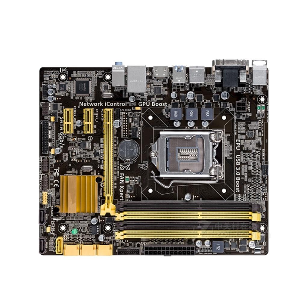 Для ASUS оригинальная настольная б/у материнская плата B85M-G DDR3 LGA 1150 USB2.0 USB3.0 32 Гб B85 материнская плата твердотельный встроенный ПК