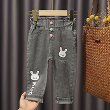 Spring autumn baby girls jeans kids pants children clothes girls leggings kids trousers cute all-matched toddler pants