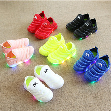 Solid Candy color 2020 kids shoes LED lighting glowing children sneakers Soft comfortable slip on baby girls boys tennis Todder