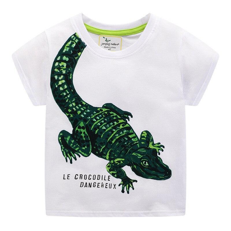 Hc8ef08da2b284966ae14ce01fbd2b878N Jumping meters Animals Summer Boys Girls T shirts Crabs Printed Cotton Baby Clothes Tees Boys s