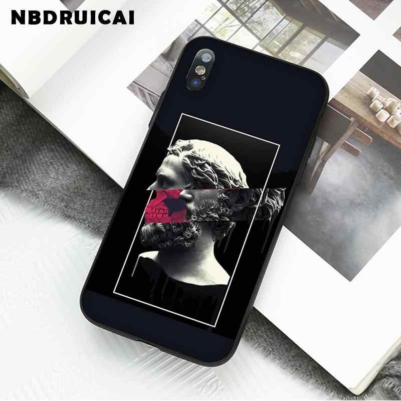 Nbdruicai Mona Lisa Art David Tpu Zachte Siliconen Phone Case Cover Voor Iphone 11 Pro Xs Max 8 7 6 6S Plus X 5 5S Se Xr Case