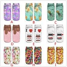 Повседневные носки в деловом стиле с милым 3D принтом, средние спортивные носки, унисекс детские носки, L501022