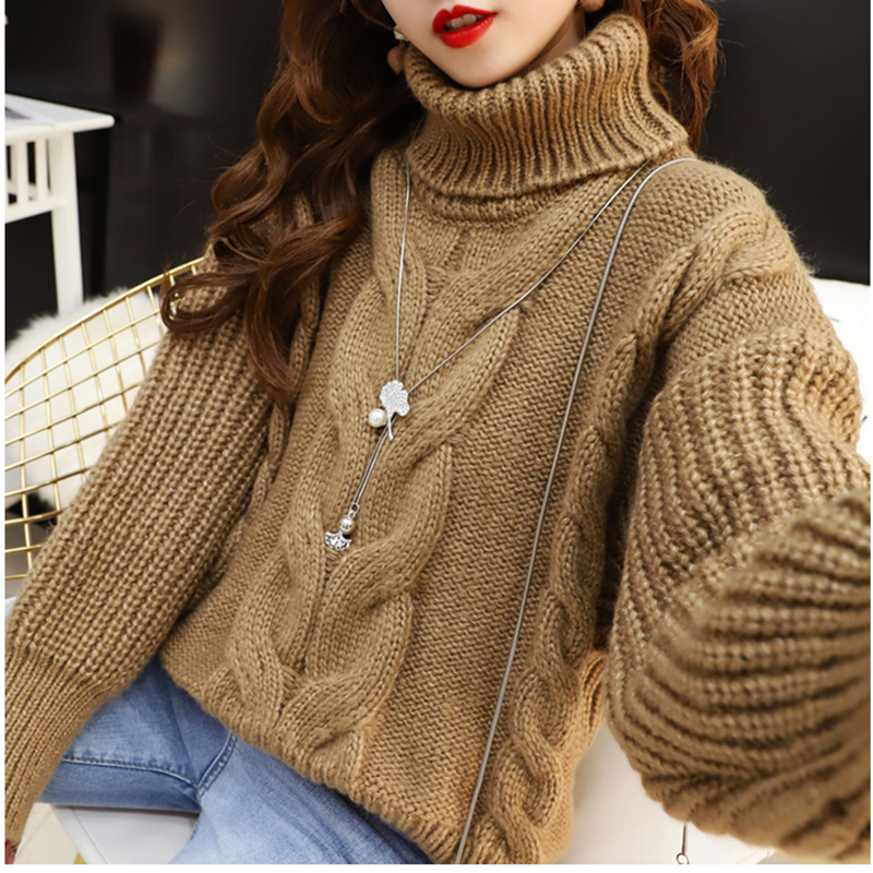 2019 Thick Warm Women Sweater Fashion O-neck Pullover Winter Vintage Knit Basic Tops Loose Female Knitwear Outerwear Coats