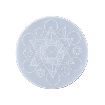 Crystal Epoxy Resin Mold Astrology Astrolabe Tray DIY Ornaments Silicone Mould AXYD image