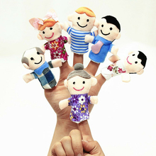 Finger Puppets Baby Mini Whole Family Plush Doll Finger Puppets Theater Family Plush Toys For Children Gifts