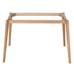 Mesa de comedor personalizada patas de madera maciza pies con marco accesorios de mesa patas de madera de haya
