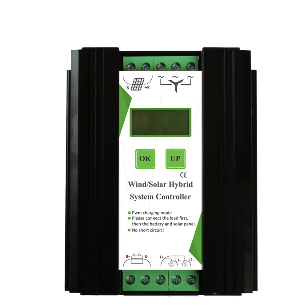 12V 24V 600W LCD Screen Hybrid Controller Home Wind Solar Energy PWM Generator Intelligent Electrical Equipment Automatic Charge