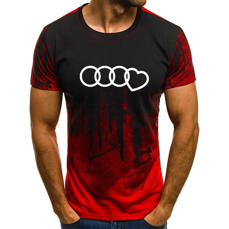 New Tot Sale Plus Size T Shirt Men Gradient Color Short-Sleeve Printed Funny T-Shirts Summer Fashion Hip Hop Men Tee Shirt Top