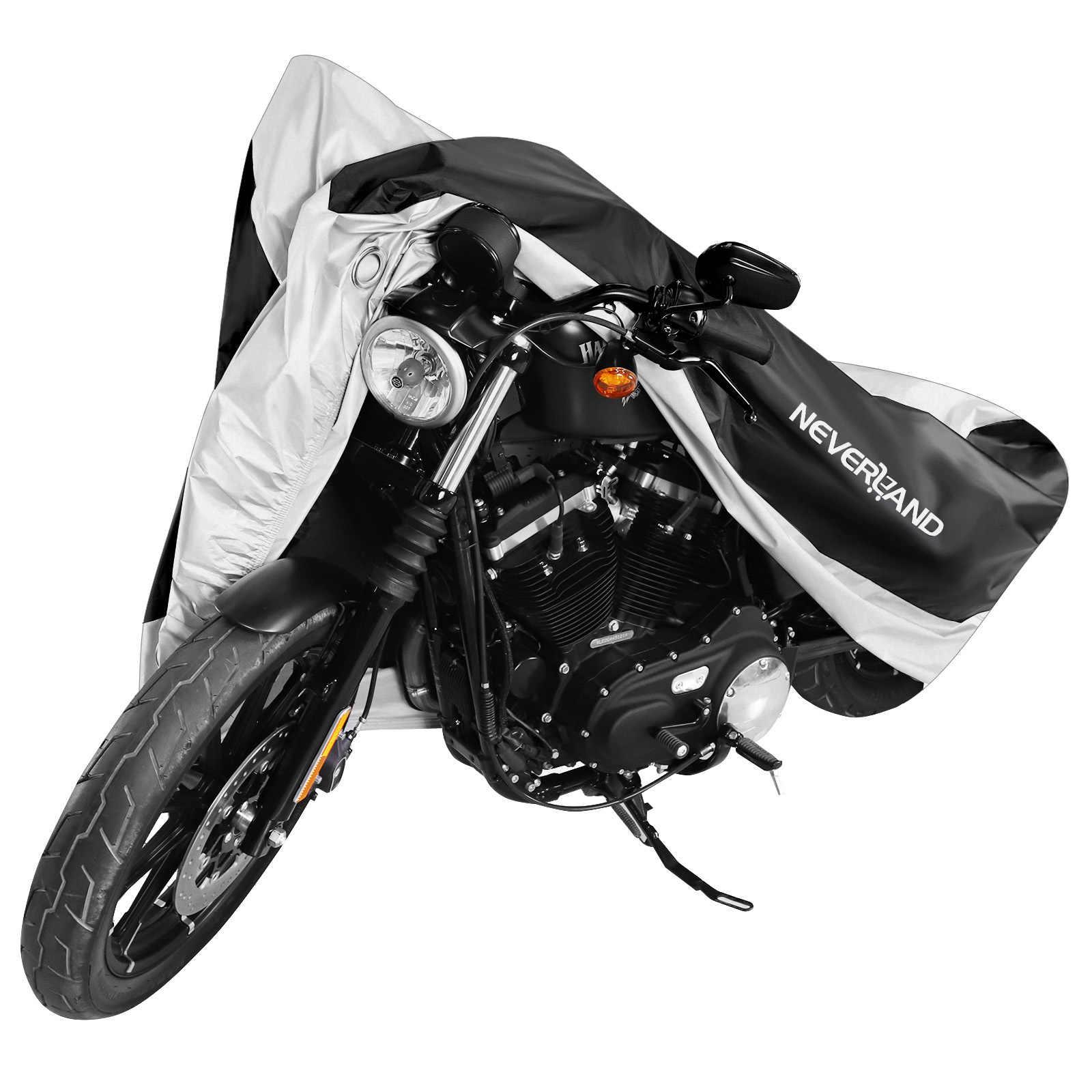 190T Stof Uv Protector Zon Sneeuw Regen Proof Waterdicht Motorfiets Covers Cover Coat Voor Yamaha Ddd Suzki Kawasaki D35