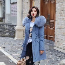 Women Parkas Winter Coats Hooded Thick Cotton Warm Female Jacket Fashion Mid Long Wadded Coat Outwear Plus Size Faux Fur Coat цены онлайн