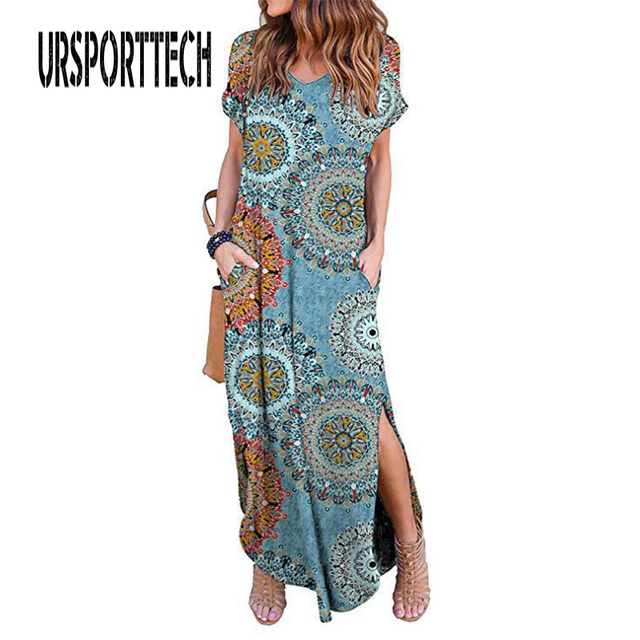 Sexy Women Dress Plus Size 5XL Summer 2020 Casual Short Sleeve Floral Maxi Dress For Women Long Dress Free Shipping Lady Dresses 1