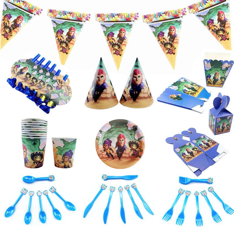 14-pcs-brawl-games-birthday-decoration-set-anime-cartoon-character-Spike-Shirley-Lyon-decoration-boy-girl_副本