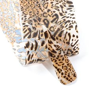 Image 3 - 10 pc imprimé léopard feuille pour ongle Laser transfert curseur autocollant lettre fleur enveloppe dongles décalque 3D décoration conseils manucure LA2001