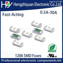 Jeden raz pozytywne odłączyć SMD przywrócić bezpiecznik 1206 3216 0.5A 1A 1.5A 2A 2.5A 3A 4A 5A 6A 7A 8A 10A 12A 15A 20A 30A szybkie działanie