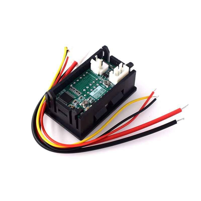 DC 0-100V 10A voltmètre numérique ampèremètre double affichage détecteur de tension courant mètre panneau ampèremètre 0.28 pouce 1 rouge bleu LE