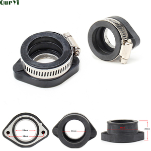Universal 28mm Motorcycle Rubber Adapter Inlet Intake Pipe For PWK PE carburetor modified