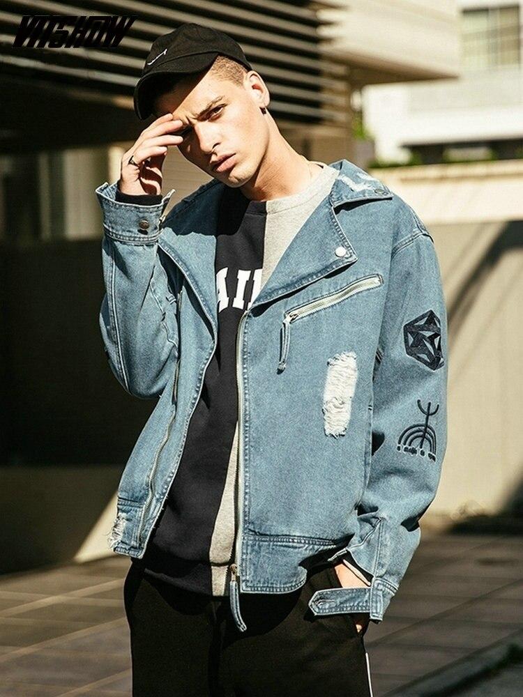 VIISHOW ストリート男性ジャケットブランドデニムジャケット男性 Veste オム 2018 新デニム男性のジャケットやつ JC2036173  グループ上の メンズ服 からの ジャケット の中 1