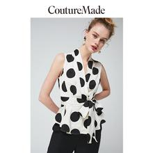 Vero Moda CoutureMade Women's V-neckline Polka Dots Chiffon Shirt   31926Y506
