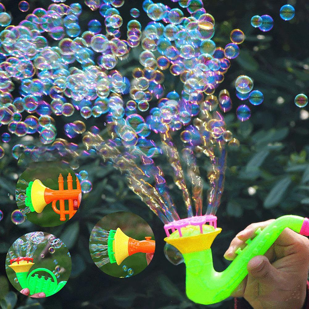 Summer Fun Bubble Creative Multi-Hole Trumpet Water Soap Blowing Bubbles Outdoor Kids Children Toy Gifts New
