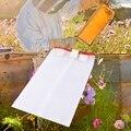 2 Pcs Bienenzucht Werkzeuge Neue Tragbare Squre Net Filter mit Haken Honig Biene Filter Extractor Beste Cappings Tasche für Honig filter Pr-in Imkerei-Werkzeug aus Heim und Garten bei