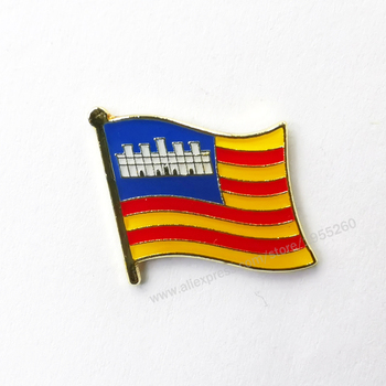 Balearic Flag Lapel Pins Brooch Badge Emblem National Spain Provincial Nationalities Region image