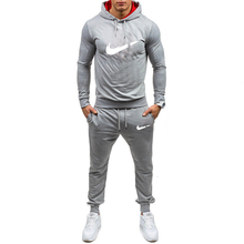 2019 spring and autumn new sportswear mens suit solid color fitness running jogging men