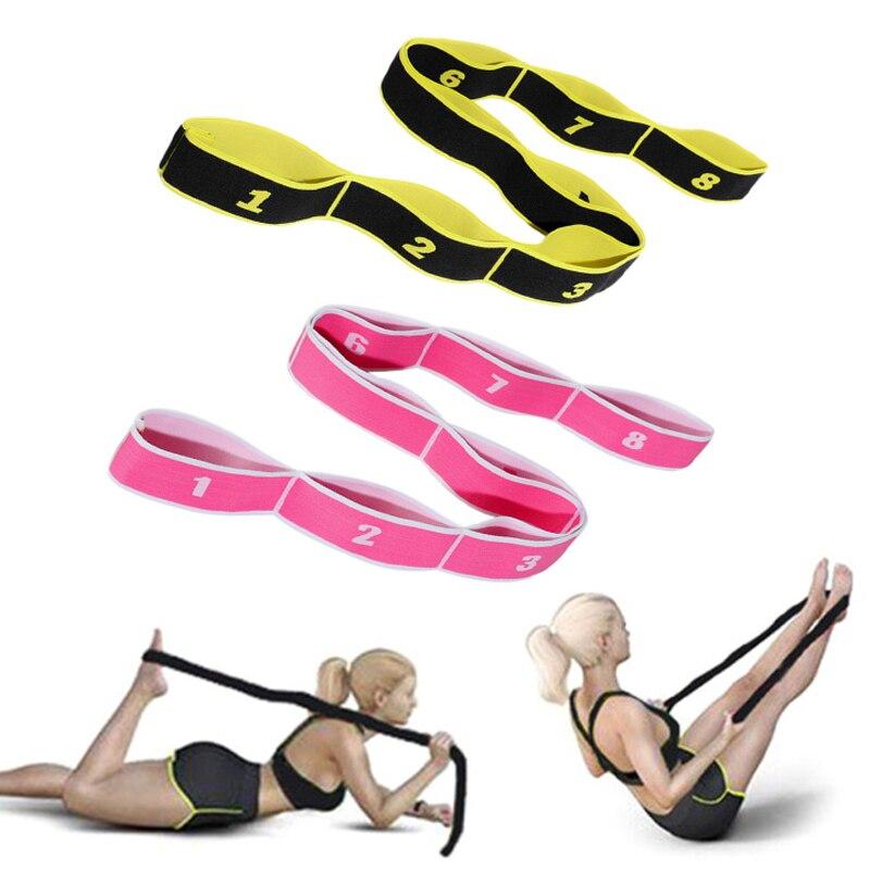 1 pz Yoga fasce elastiche di resistenza Fitness fascia elastica ginnastica fasce per allenamento latino per adulti Pilates multifunzione per la casa