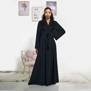 2020 summer fashion muslim women v-neck long sleeve long abaya muslim clothing