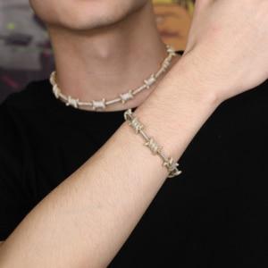 Image 5 - จิงโจ้ Hip Hop เครื่องประดับ staggered รูปแบบความยาว x Knot เงินทอง PRONG การตั้งค่า AAA Cubic Zircon 6 ครั้งชุบสร้อยข้อมือ