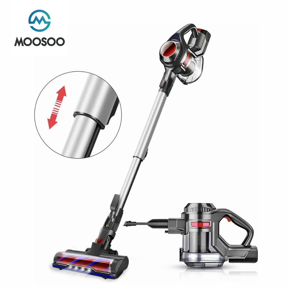 MOOSOO X6 Handheld Staubsauger 12000Pa Starken Sog Power Hand Stick Cordless Stick Sauger 1,2 L 100W cordless vakuum