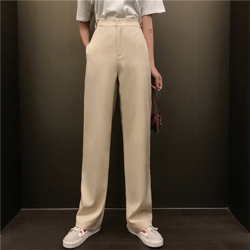 HziriP Hong Kong Style Streetwear Suit Full-Length Hot Selling Straight Large Size Casual Chic Loose High Quality   Wide     Leg     Pants
