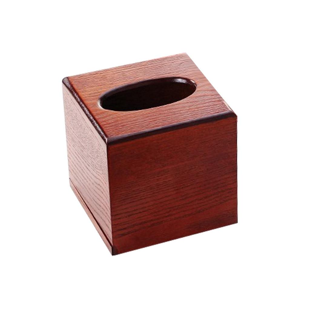 Деревянная коробка для салфеток, деревянная коробка для хранения салфеток прямоугольной формы, Рабочий стол для гостиной, бумажный лоток, коробка для хранения бумаги - Color: C