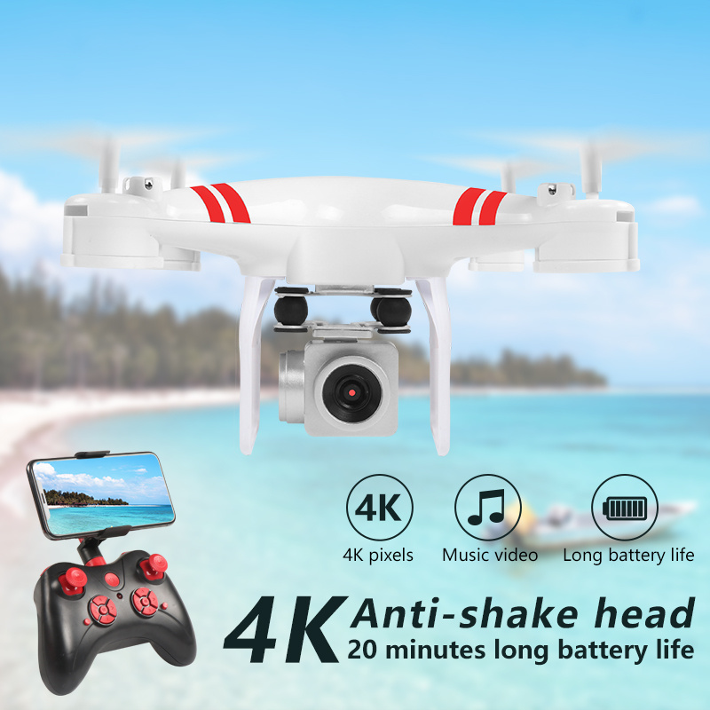 Image 2 - 2019 New Drone 4k camera HD Wifi transmission fpv drone air pressure fixed height four axis aircraft rc helicopter with camera-in RC Helicopters from Toys & Hobbies