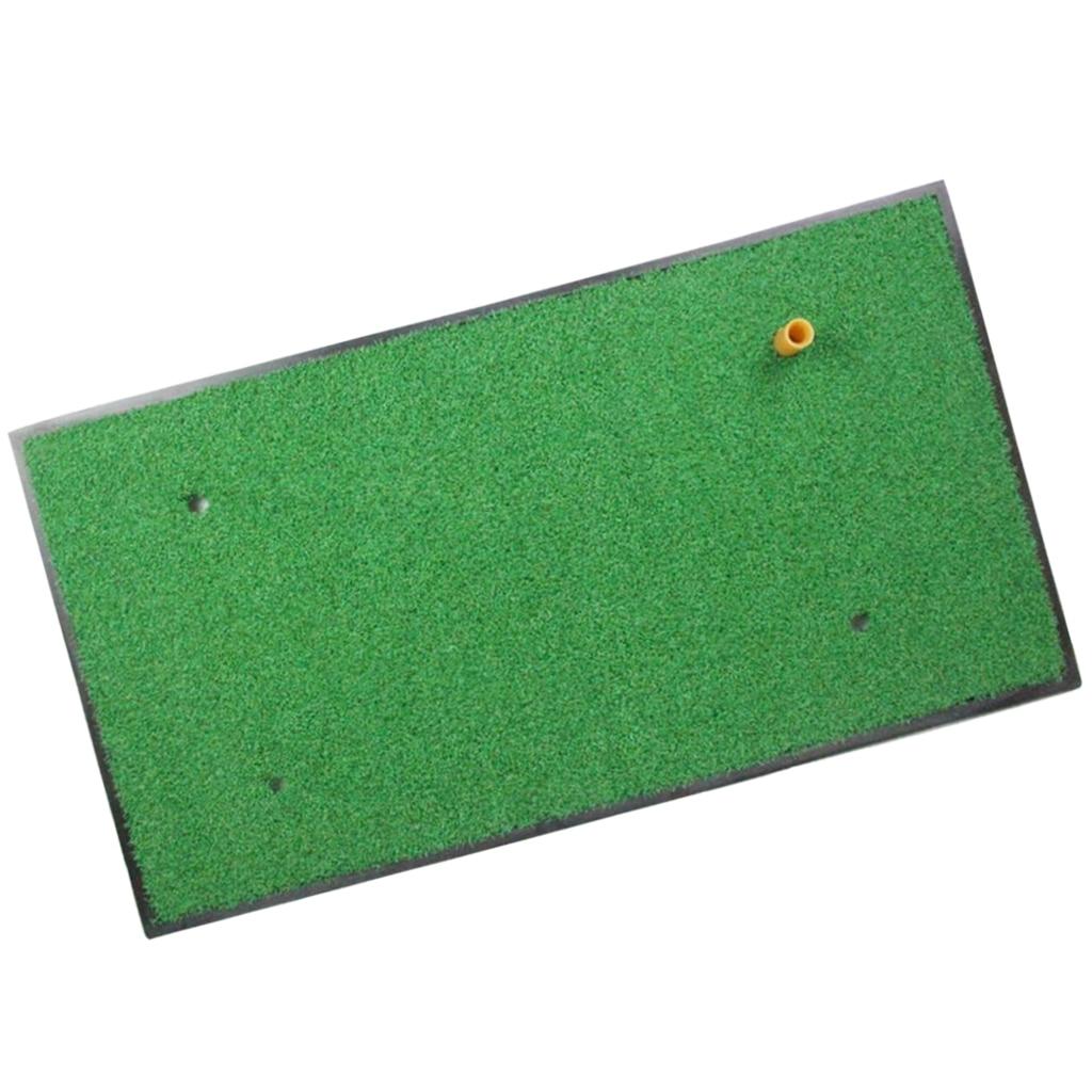 24x13 Inch Golf Practice Mat Portable Hitting Putting Grass Mat Rubber Base