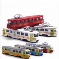 1: 90 modèle de tramway en alliage haute simulation, musique sonore et légère de simulation, jouets de bus de métro, emballage d'origine nouveaux produits offre spéciale