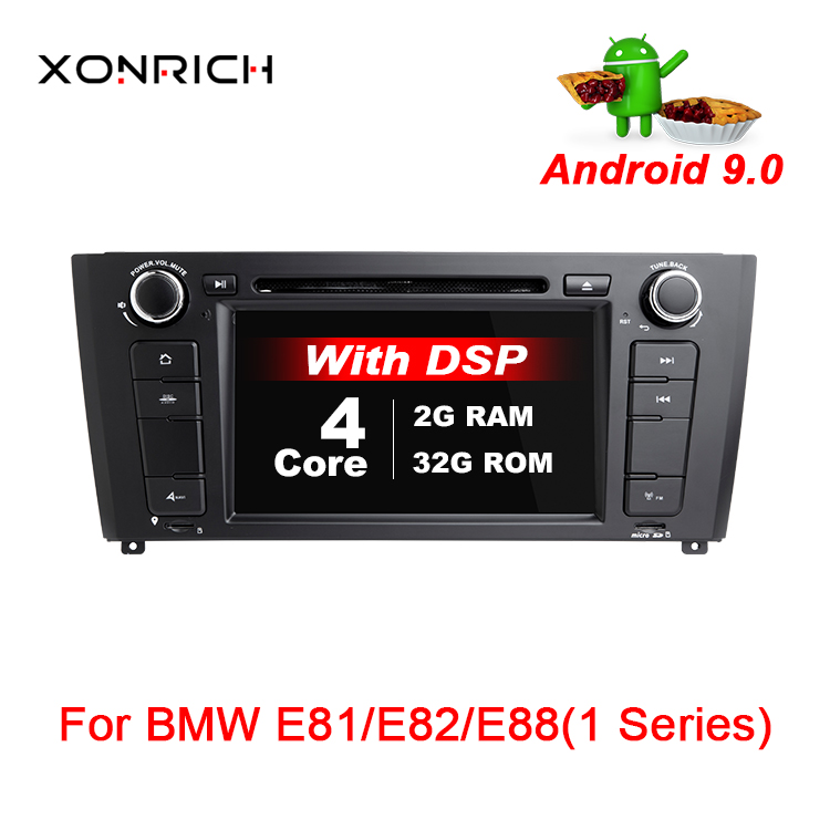 Xonrich 1 Din AutoRadioAndroid 9.0 voiture stéréo GPS pour BMW 1 série E88 E87 E82 E81 I20 DVD Automotivo 4 Core Wifi BT DAB DSP
