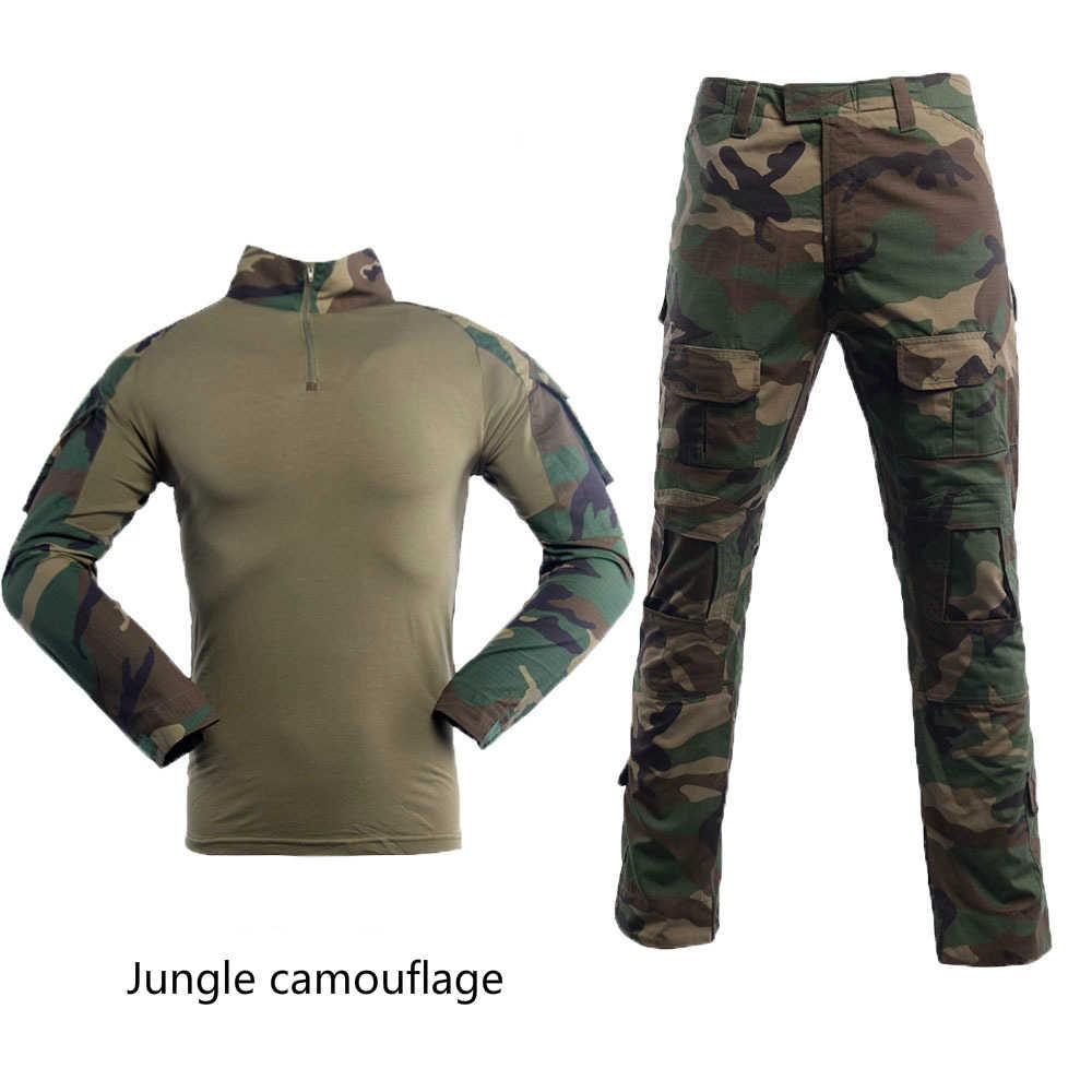 2 個軍軍服戦術的な迷彩スーツは 2020 戦闘シャツ + パンツ兵士 usmc エアガン機器海軍シール