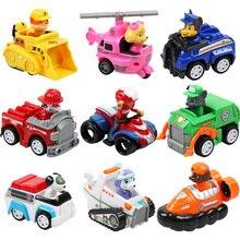 Paw Patrol набор игрушек Щенячий патруль фигурка собаки спасательный набор собачий патруль Marshall модель автомобиля для детей день рождения