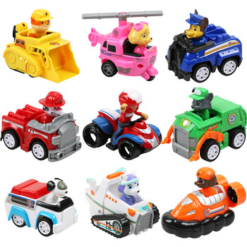 Paw Patrol Toys Set Puppy Patrol Action Figure Dogs Rescue Set Canine Patrol Marshall Vehicle Model for Children Birthday