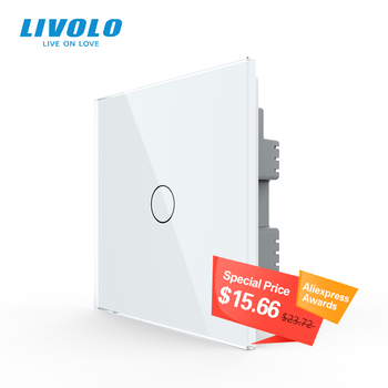 Livolo UK standard  Wall Light Touch Switch,Glass Panel,touch sensor control,with led backlight,1-4gangs,wall touch switch - discount item  39% OFF Electrical Equipment & Supplies