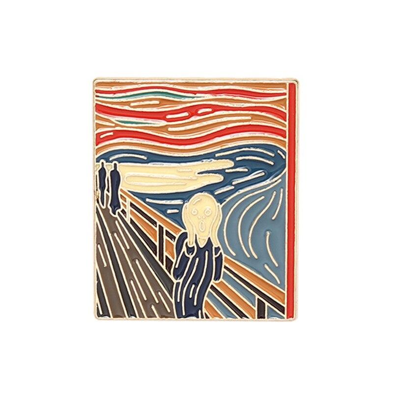 P5978 Dongmanli творческий искусство картина маслом эмалевые булавки значки для рюкзака воротника лацкана булавка шляпы ювелирные изделия подарк...