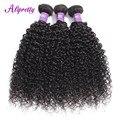 Alipretty вьющиеся волосы пряди, бразильское плетение 8-28 дюймов натуральный Цвет Remy пряди человеческих волос для наращивания кудрявый вьющиеся...