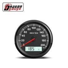 DRAGON Дракон 85 85 мм Универсальный GPS Спидометр указатель ЖК-дисплей одометр 200 км/ч с GPS антенной для 12В 24В автомобиля мотоцикла лодки и т. Д.