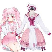 Cosplay Costume Princess-Dress Vocaloid Lolita Sakura Miku Pink Kawaii Sailor-Uniform