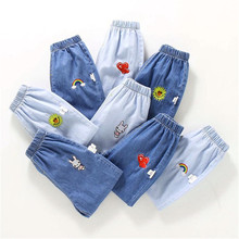 Girls Jeans for Kids spring autumn Trousers Children Jeans Kids Fashion Denim Pants Baby Boys Jean Infant Clothing cheap FANAN Casual CN(Origin) Fits true to size take your normal size JQ863 Elastic Waist Unisex Cartoon Regular Distrressed