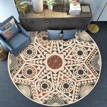 Круглая Антискользящая напольная ковровая дорожка с узором в