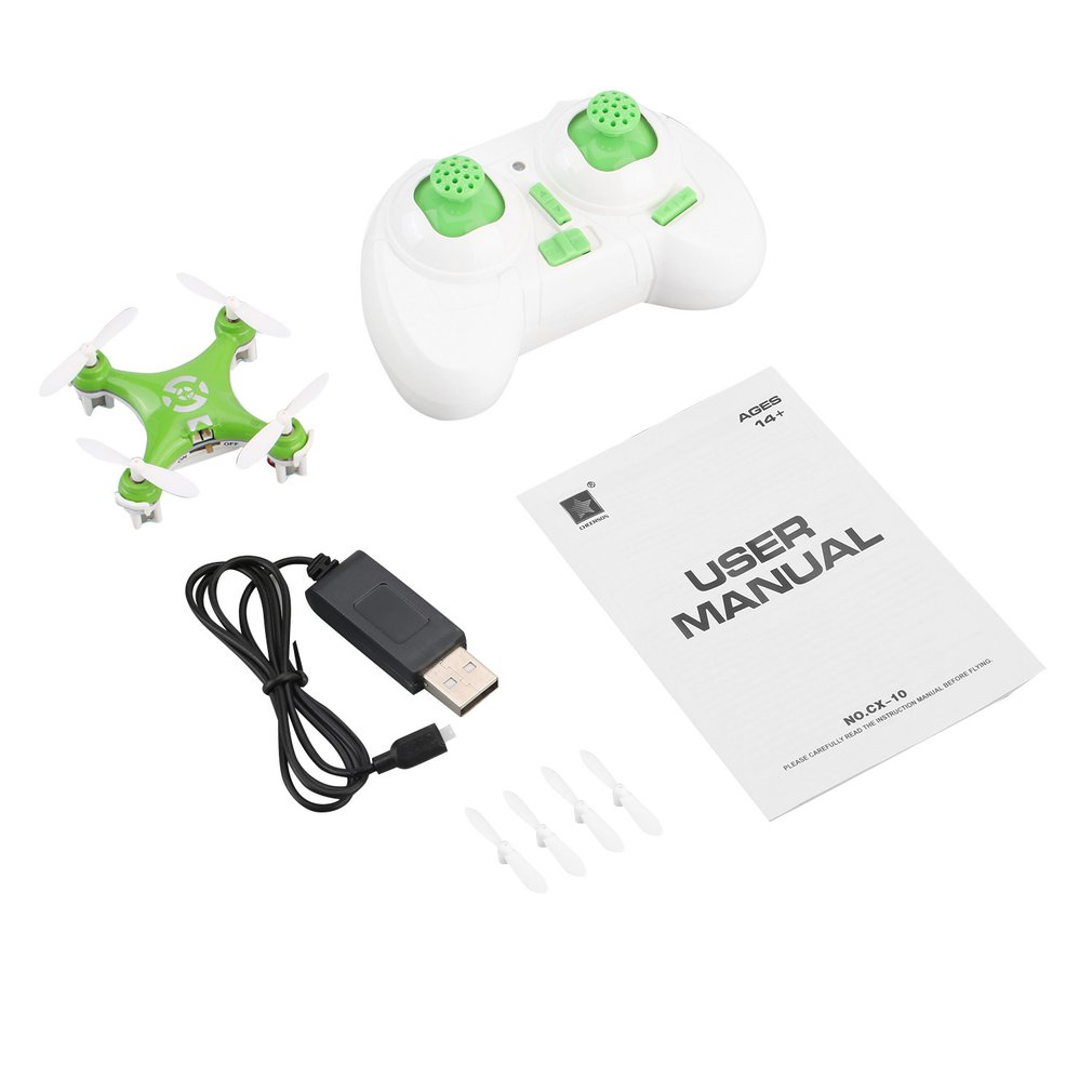 CX 10 Mini Drone 2 4G 4CH 6 Axis LED RC Quadcopter Toy Helicopter Pocket Drone with LED light Toys for Kids Children in RC Helicopters from Toys Hobbies
