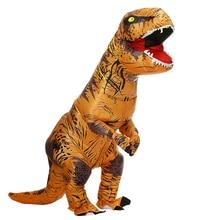 Dessin animé adulte enfants dinosaure Costumes gonflables fantaisie Halloween Cosplay fête Costume pourim fantaisie carnaval t rex Dino Costume
