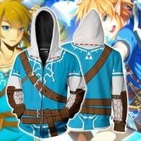 The Legend of Zelda: Breath of the Wild link Hoodies Jacket Cosplay Costume Princess Zelda Hoodies Sweatshirts Adult sports coat