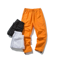 Orange Black Men Cargo Pants Neon